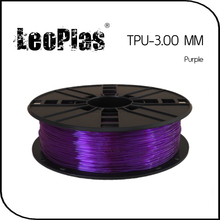 Worldwide Fast Delivery Manufacturer 3D Printer Material 1kg 2.2lb Soft 3mm Flexible Purple TPU Filament(China)