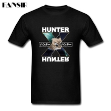 Men T-shirt Great White Short Sleeve Custom T Shirts Men's Hunter X Hunter Leorio Guys Clothing(China)