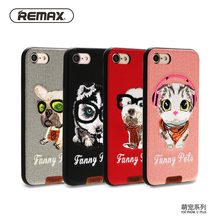 Remax cute pet Designed phone case For Apple iPhone 7 7Plus PU Leather TPU Silicone Case Protective Cover Smooth Touch Sleeves