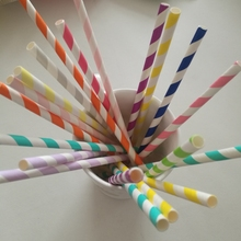 25 Pcs Pink Gold Striped Creative Paper Drinking Straws for Kids Birthday Wedding Party Party Decoration Drinking Paper Straws