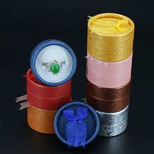 72pcs/lot 5.3*5.3*3.7cm jewelry earring ring gift  boxes 10 different color round carton