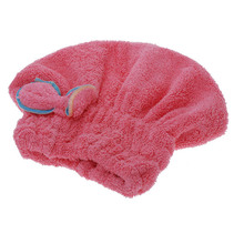 Top 2016 Hot Sale Home Textile Dry Hair Hat Microfiber Hair Turban Quickly Dry Hair Hat Wrapped Towel Bathing Cap Rose Red