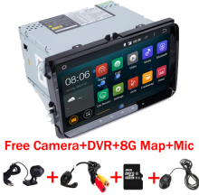 "2 din 9"" Car DVD Android 7.1 for VW Volksvagen Passat B5 Golf  Seat Leon  Bora Polo Seat With Wifi 4G Free camera DVR+8GB MAP"