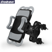 Universal Bike Bicycle Motorcycle Cobao Bike Phone Holder 360 Adjustable Handlebar with Silicone Rubber for iPhone Samsung GPS(China)