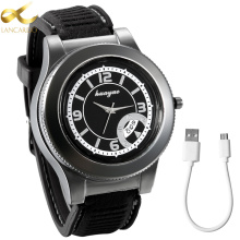 Lancardo Fashion Rechargeable USB Lighter Men Watch Electronic Men's Casual Quartz Wristwatches Flameless Cigarette Lighter(China)