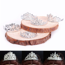 10pcs /set Girls Crystal Plastic Sliver Crown Headband Headwear Accessories for Barbie Doll Toys #68458