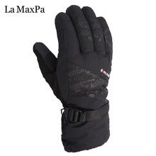 LaMaxPa Winter Gloves Warm Windproof Gloves Comfortable Men or Women Snowboard Gloves(China)