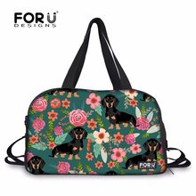 f42cc5a5961 FORUDESIGNS Sports Bags Gym Bag Dachshund Dog Printed Yoga Mat Bag for  Women Fitness Large Capacity Shoulder Bags Shoes Pocket