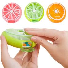 1PC Mini Portable Weekly Pill Box Rotating Pill Case Medicine Box Pill Dispenser Vitamin Holder Candy Storage Cases RP1-5(China)