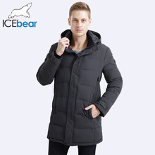 ICEbear 2017 Soft Fabric Winter Men's Jacket Thickening Casual Cotton Jacket Winter Mid-Long Parka Men 17MD962D(China)