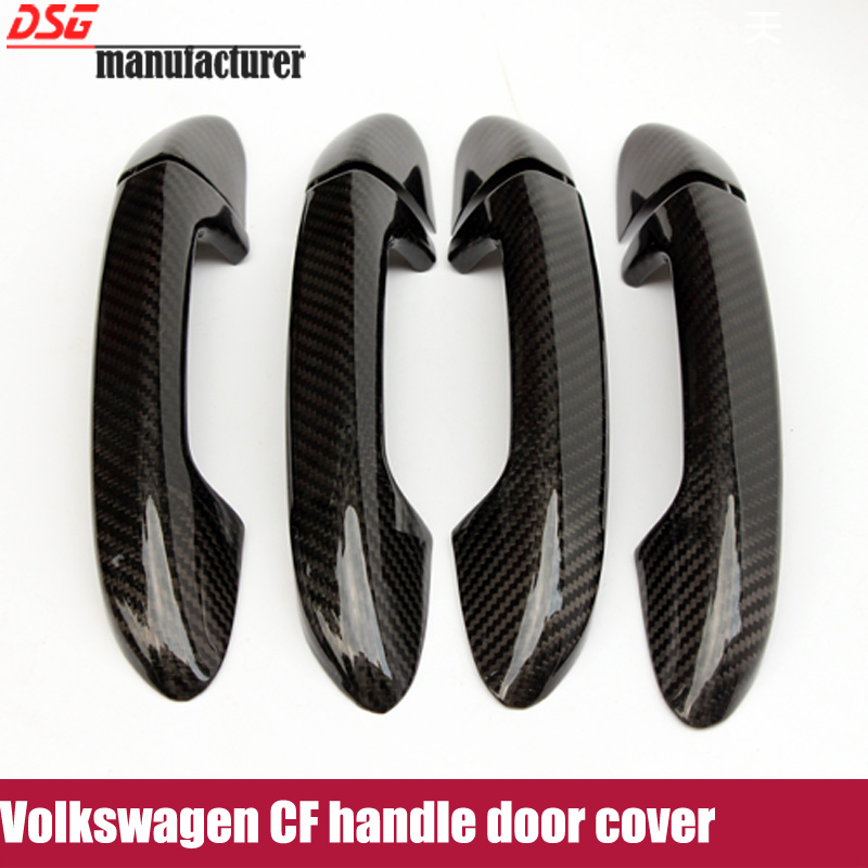 Carbon fiber +ABS handle door covers trim for Volkswagen VW CC bora golf 6 cross lavida  passat touarge door covers<br><br>Aliexpress