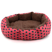 Mini Soft Velvet Dot Printing Pattern Pet Dog Kennel Dog Beds for Small Dogs Cat Pet Bed Mat Comfortable Sofa Pet Supplies 2017