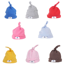 Winter Autumn Toddler girl Sleep hat 2016 lovely Teddy Bear Baby Beanie hat Soft Candy colors knitting Cap Headwear for newborn(China)