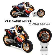 usb flash drive pen drive 32gb pendrive cartoon Motorcycle 4gb 8gb 16gb bulk motor car memory stick u disk flash card gift(China)