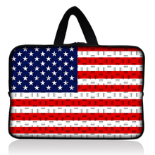 "USA Flag Design Sleeve Case Bag Cover +Handle For 7"" inch Barnes & Noble NOOK Tablet PC"