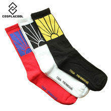 [COSPLACOOL] Fashionable Socks Men Women USA Skateboard Hip Hop meias Cotton Crew Sox