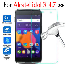 Tempered Glass For Alcatel One Touch Idol 3 4.7inch 6039Y Screen Protector Protective Film On Onetouch Idol3 6039 6039J 6039Y