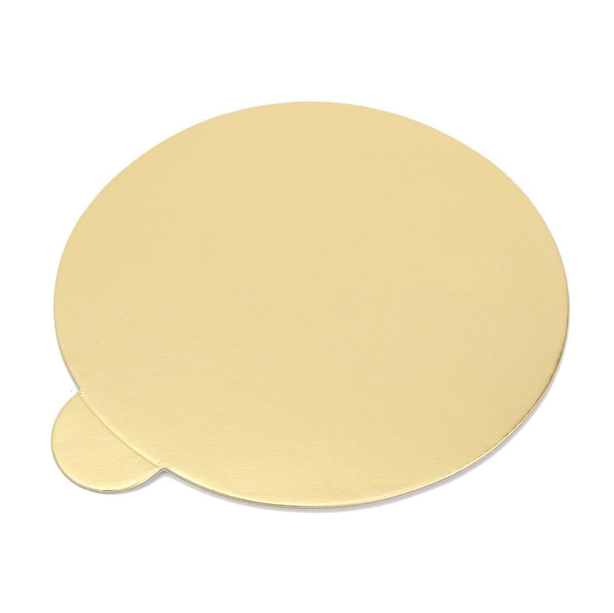 New 100Pcs/set Round Mousse Cake Boards Mayitr Cupcake Dessert Tray Gold Paper Displays Wedding Birthday Pastry Decor