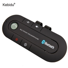 kebidu Blutooth Android 4.1 In-Car Speakerphone Sun Visor Handsfree Car Kit Blutooth Music Reciever Speaker For iPhone Android(China)