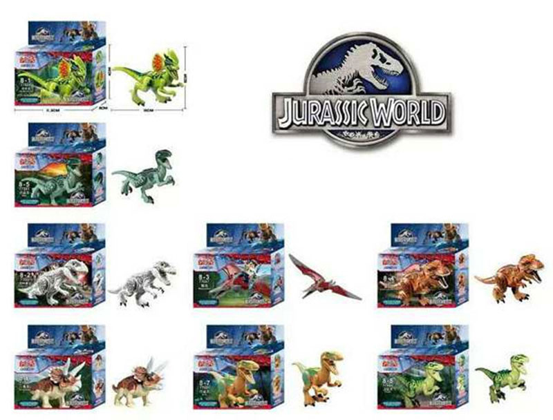 8pcs/lot Dinosaurs of Jurassic Park World Figure movie Kid Baby Toy Building Blocks Sets Model Toys Brick with box<br><br>Aliexpress