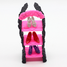 1pcs Playhouse Shoes Rack For Barbie Doll Storage Racks For Monster High Dolls Furniture Kids toys es029