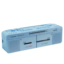 Panda F-536 dual-cassette stereo tape TF card U disk all-round repeat a key transcription karaoke OK Two-seater one-touch record(China)