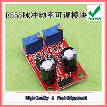 Free Ship 2pcs NE555 Pulse Frequency Duty Cycle Adjustable Square Wave Rectangular Signal Generator Motor Drive module board 555