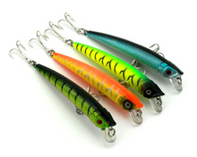 HENGJIA 9.5cm 7.3g Plastic Artificial hard Baits China Fishing Lures Laser Pencil Lure Minnow Swim bait Crank Bait Low Price(China)