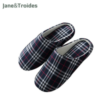 Spring Autumn Home Men Slippers Soft Plaid Casual Comfortable Flip Flops Bedroom Indoor Outdoor Sandals Fashion Men Shoes(China)