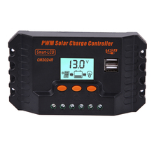 30A 12/24V PWM LCD Dual USB Solar Panel Battery Regulator Charge Controller Solar Charge Controller FEN#