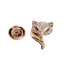 New hot Fashion Luxury Banquet Accessories Alloy Fox Brooch jewelry Charm rhinestone brooch pin for women