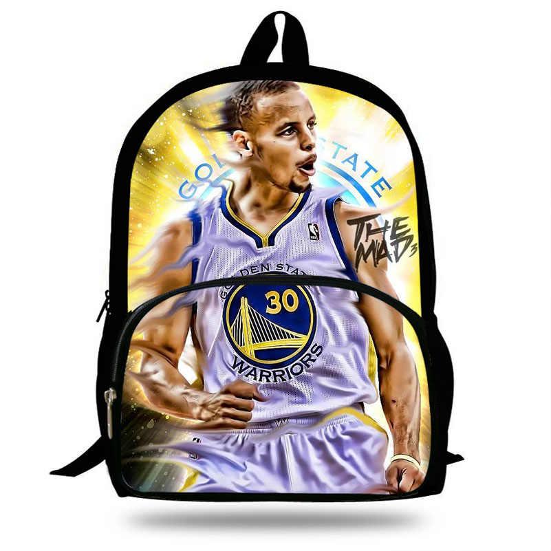 4caa123686c6 16-Inch Popular Stephen Curry Backpack For Teenagers Cool Men Superstar  Print Girls Bakcpack Children