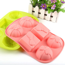 Gift box shape Cake mold Silicone Paper cups Cake Manufacture Mold D749