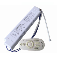 1X Constant current CCT & brightness dimmable 2 channel output led driver 220V input 90-108W with 2.4G RF remote controller