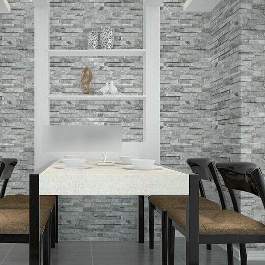 beibehang PVC Vintage Wall paper 3D wood brick designs stripe pattern Bedroom TV Sofa Blackground home decoration Wallpaper R456<br>