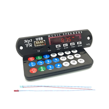 Car Digital LED 12V Auto MP3 Player Sound Modification Decoder Board Panel Support FM Radio USB Remote Display Memory Function