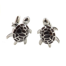 Top Quality Wine Red  Enamel Turtle Cufflinks  Funny Animal Cufflinks Custom Cufflink  Factory Outlets For Wholesalers 50 Pairs