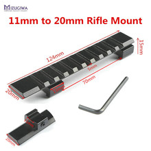 MIZUGIWA Hunting Rifle 11mm Dovetail to 20mm Picatinny Rail Converter Adapter Scope Mount Airgun Pistol Airsoft Hunting Caza(China)
