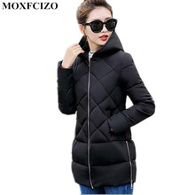 New Winter jacket Women Slim Long plus size Parkas Woman Solid color Hooded Warm Female Cotton-padded Jackets Winter Coat Women(China)