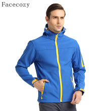 Facecozy Men's Autumn Outdoor Hiking Softshell Jacket Quick Dry Breathable Hooded Windproof Fishing Coat(China)