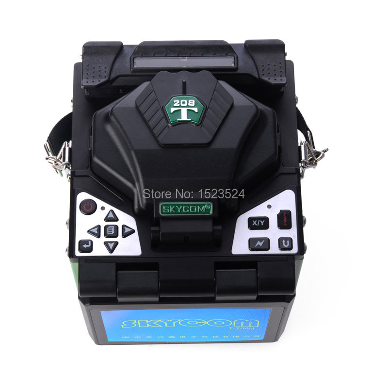 SKYCOM High Quality Automatic Focus T-208H Optical Fiber FTTH Fusion Splicer Welding Machine