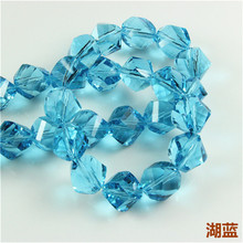 DIY Crystal Twist Beads(50PCS/LOT)12MM Chinese Crystal Beads Wholesale with Letter Crystal Glass Bead for Jewelry Making Supplie