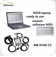 2017 Top rated MB Star C3 multiplexer with star c3 HDD software newest XENTRY dell d630 laptop for Mercedes Benz Star Diagnosis