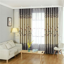 Small Flower Curtains For Living Room Bedroom Printing American Style Garden  Curtain English Flowers Shading(