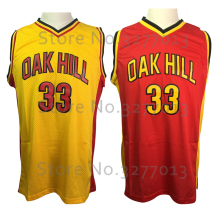 2018 Wholesale Oak Hill High School Jerseys #33 Kevin Durant Throwback Basketball Jersey Retro Vintage Stitched Shirts for Men(China)