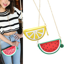 New Watermelon Orange Shaped Bag Evening Clutch Bag Fruit Chain Messenger Small Crossbody Bags For Women Purses 88 WML9(China)