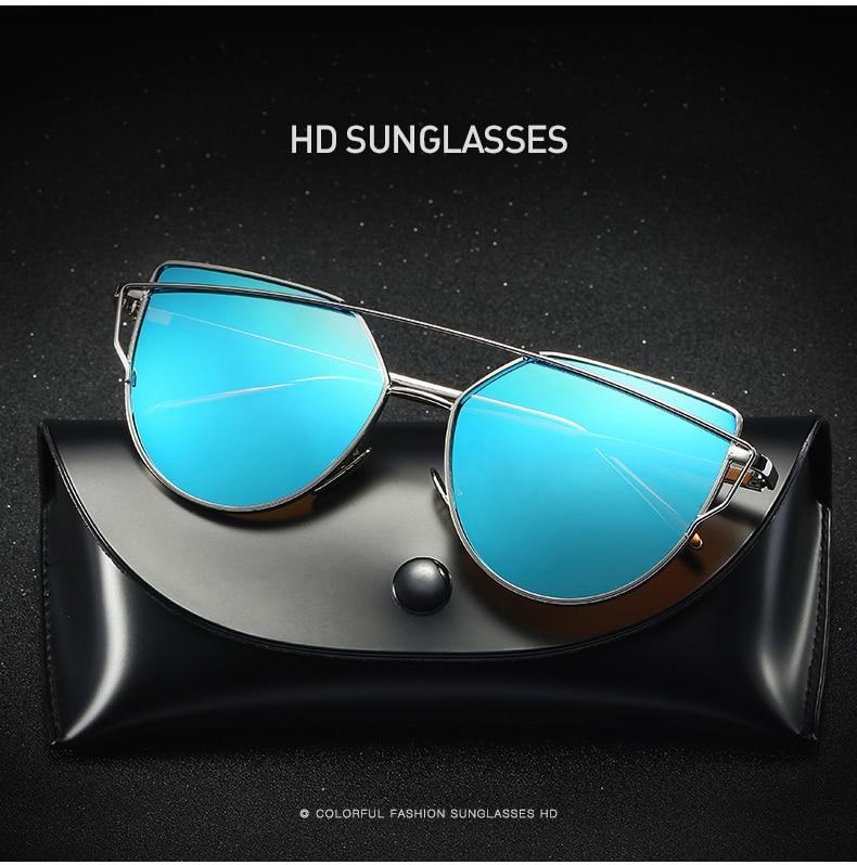 Lunettes de Soleil Polarisées Cateye Modernes et Fashion Réfléchissantes UV400 Pour Femmes