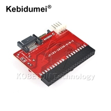 "kebidumei 2 in 1 SATA to IDE Adapter IDE to SATA Converter 40 pin 2.5"" inch Hard Disk Driver Support for ATA 133 100 HDD CD DVD(China)"