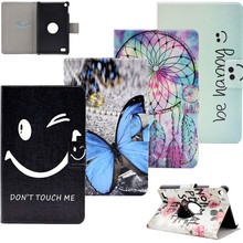 New Wallet Flip PU Leather Case Flowers Stand Cover For Amazon Kindle Fire 7 2015 7 inch Fashion Tablet with Credit Card Slots