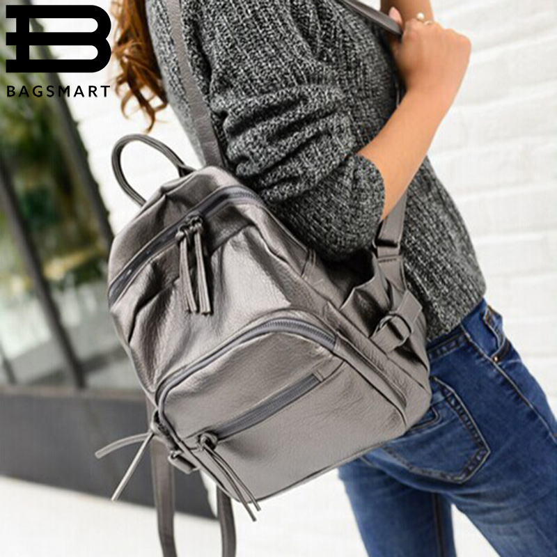BAGSMART New Leather Women Backpack College Student School Printing Backpack Bags For Girls Casual Backpack Mochila Feminina<br><br>Aliexpress
